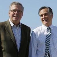 Jeb Bush y Mitt Romney en acuerdo por campaña con miras al 2016