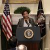 Presidente Barack Obama, Erick Holder exfiscal heneral y Loretta Linch, nueva fiscal general de EEUU