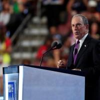 Michael Bloomberg exalcalde de Nueva York, en la convensión Demócrata