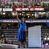 Michelle Obama Filadelfia Hillary Clinton