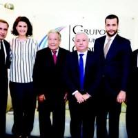 Servio Tulio Castaños, Amelia Vicini, Rafael Blanco Canto, Antonio Taveras Guzmán, Rafael Paz y Roque Féliz.