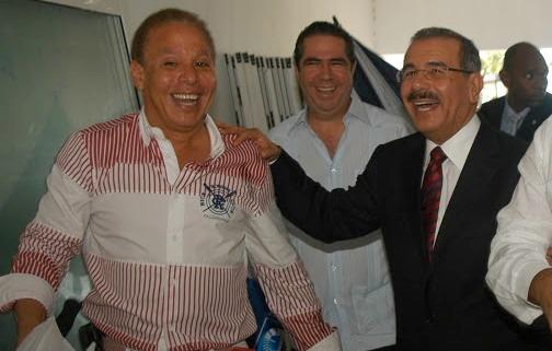 Ángel Rondón, Francisco Javier García y Danilo Medina