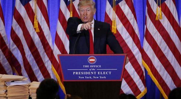 Donald Trump presidente electo de EEUU, quien al parecer solo lo interesa una prensa compaciente.