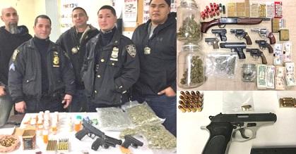 Policía Brooklyn arresta y decomisa armas de fuego sectores viven dominicanos