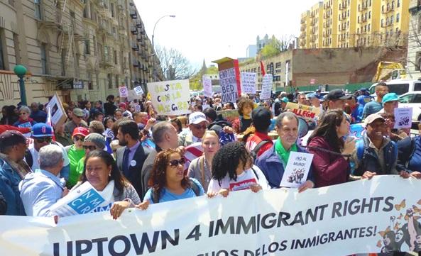 Marchan en Alto Manhattan contra política migratoria EEUU