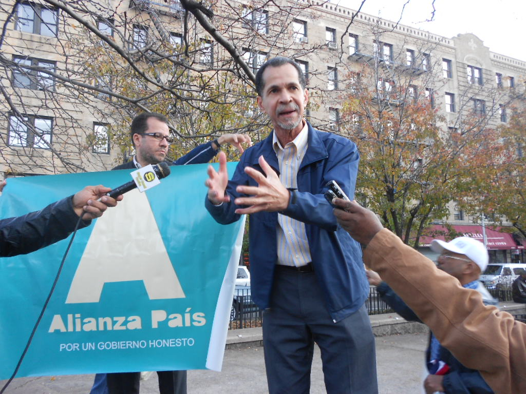 Luis Mayobanéx Rodríguez, Coordinador de Alianza País en NY