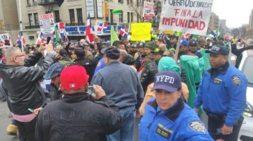 Dominicanos en NY contra la corrupción en su país