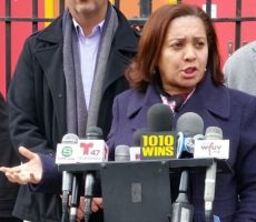 Senadora dominicana NY apoya congresistas contra agente ICE ante corte Queens
