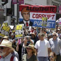 Marchan en al menos 46 ciudades de EEUU para pedir la destitución de Trump