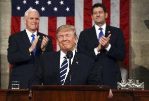 Trump en su primer discurso sobre el Estado de la Unión