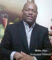 Milton Olivo,  Escritor y preside el Partido Quisqueya Potencia, RD