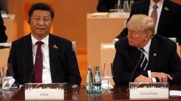 Xi Jinping Presidente de China y el presidente Trump de EEUU